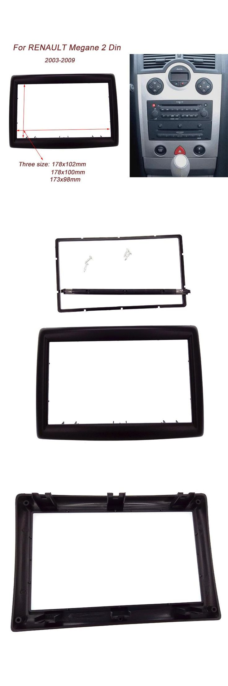 [Visit to Buy] 2 DIN Adapter CD Trim Panel Stereo Interface Radio Car Frame Panel Fascia for RENAULT Megane II 2003-2009  #Advertisement