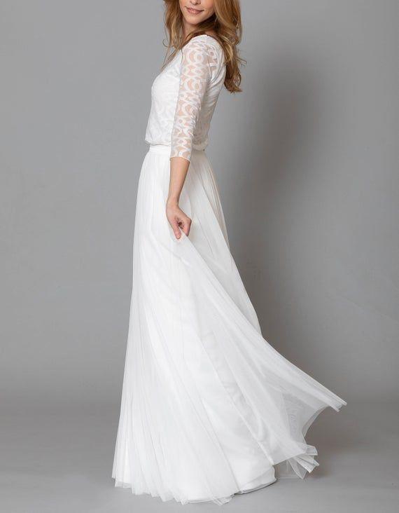 Constant Love Langer Tulle Skirt Bridal Skirt Bride Etsy In 2020 Bridal Skirt Separate Bridal Skirts Tulle Long Skirt