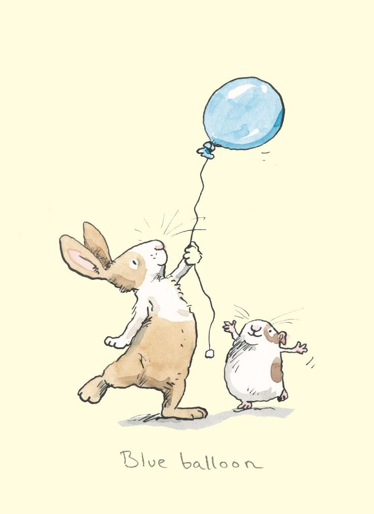 A rabbit card by Anita Jeram