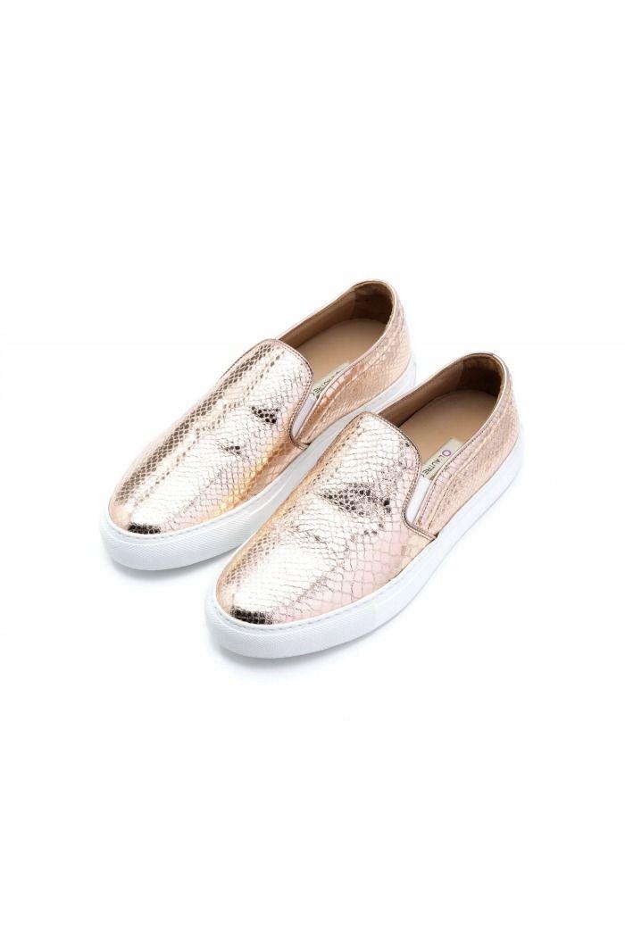 Pink sneakers by L'Autre Chose.  #lautrechose #sneakers #slipon #shoes #fashion #trend #ss15 #spring