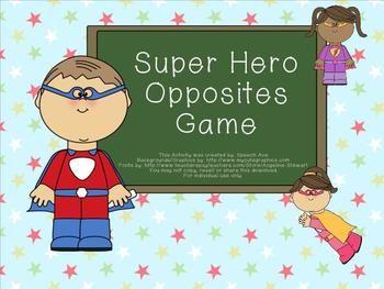 Super Hero Opposites Game