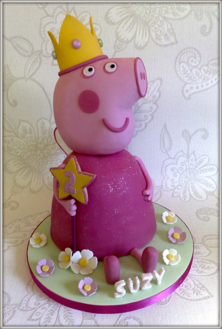 1000 images about peppa pig party on pinterest for Peppa pig cake template free