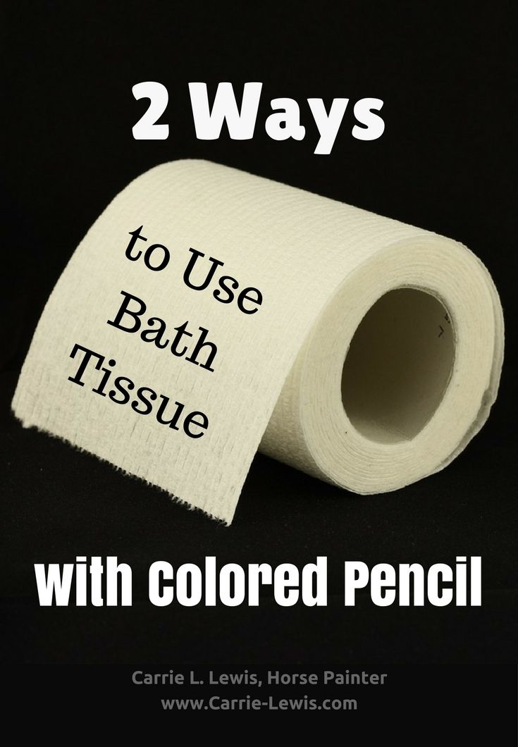 Drawing with Bath Tissue with Colored Pencil