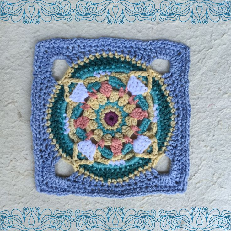 Square 6 in 9 squares in 9 weeks projecthttp://www.vrouekeur.co.za/english/english-patterns/moroccan-crochet-square-6