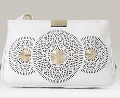 Jimmy Choo Zip Perforated Leather Clutch