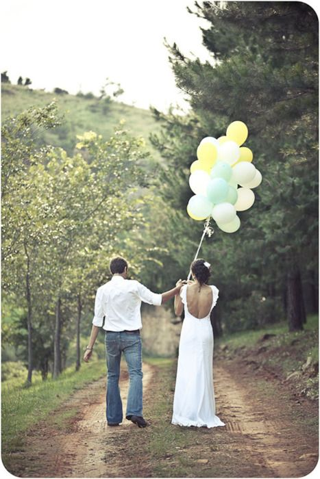 you can never go wrong with balloons! they make all things happier...