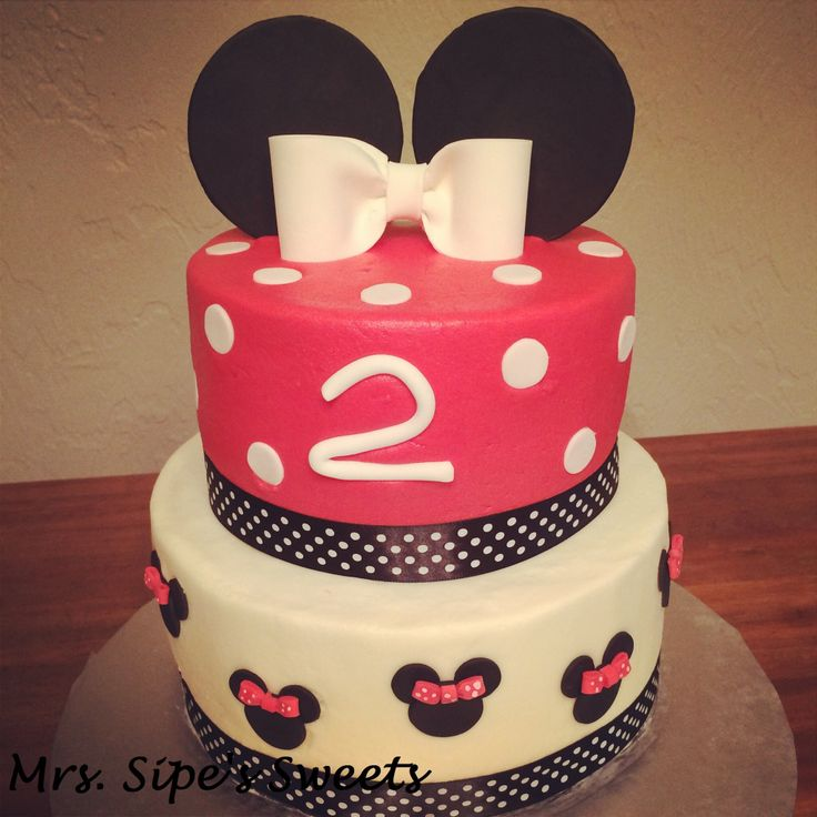 Minnie Mouse 2nd birthday #cake  Mikey/minnie party  Pinterest