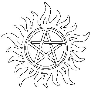 Best 25 supernatural signs ideas on pinterest for Supernatural coloring pages