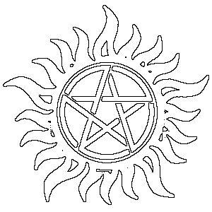 Devils Trap stencil