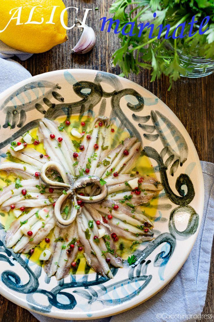 Le ALICI MARINATE sono un semplice ma delizioso piatto