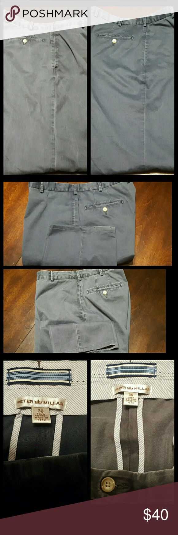 Lot of 2 Peter Millar Khaki Pants Size 36 x 30 Lot of 2 Peter Millar Khaki Pants Size 36 x 30. These pants are in excellent condition with no stains, no tears, etc. These are $145 new in the store. One pair is gray and the other is blue. Very nice pants and I'll ship them within one business day. Cleaning out my inventory so I'm selling everything cheap. Price is FIRM. Peter Millar Pants Chinos & Khakis