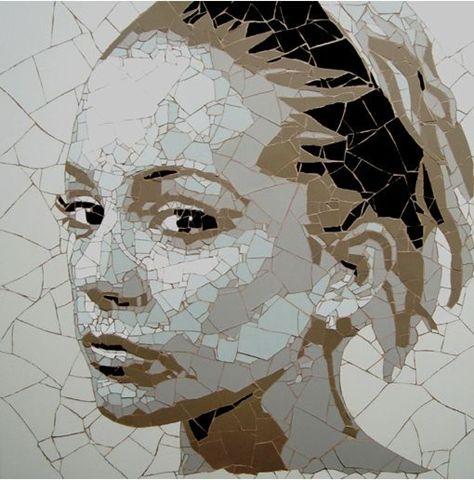 Mosaic art, bespoke portraits   by Ed Chapman