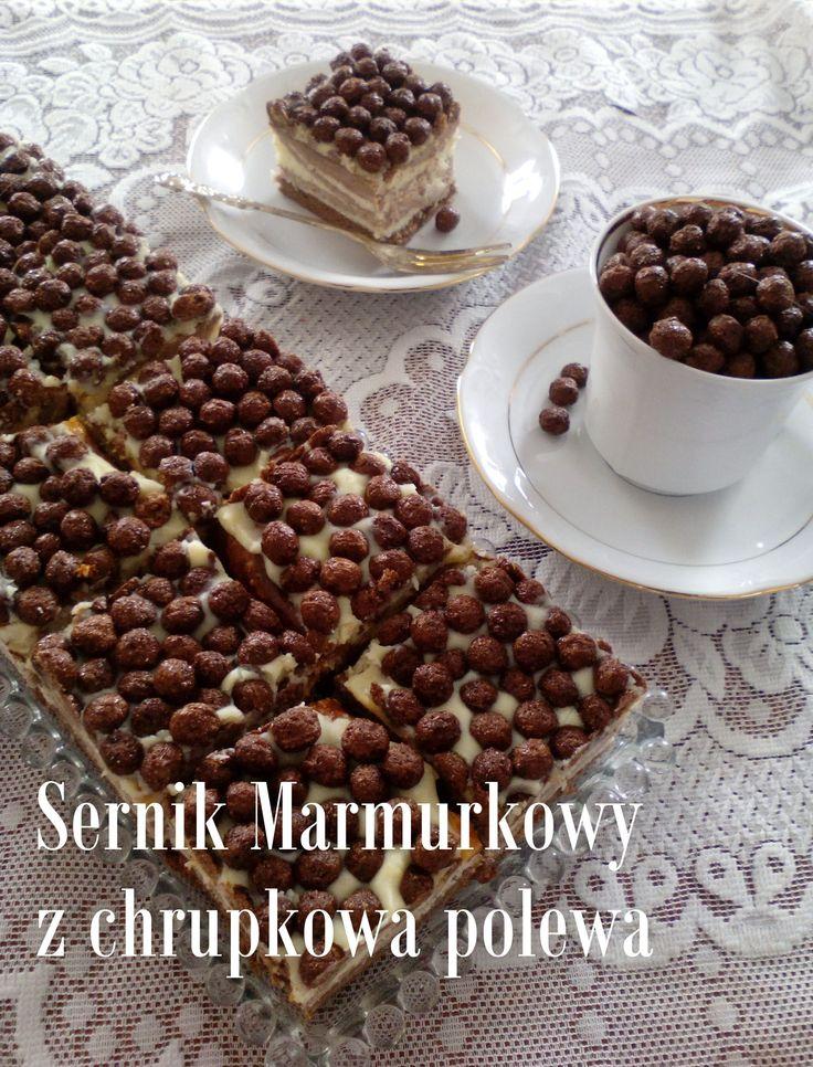 Sernik Marmurkowy z chrupkową polewą PRZEPIS