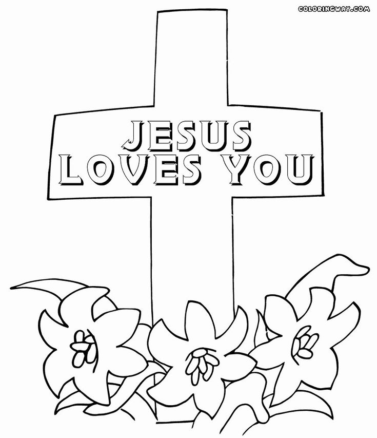 Cross with Flowers Coloring Pages Elegant Coloring Pages ...