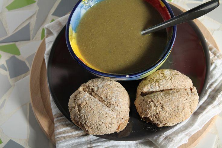Duurzame prei champignon soep. Goed idee met broccoli en bonen