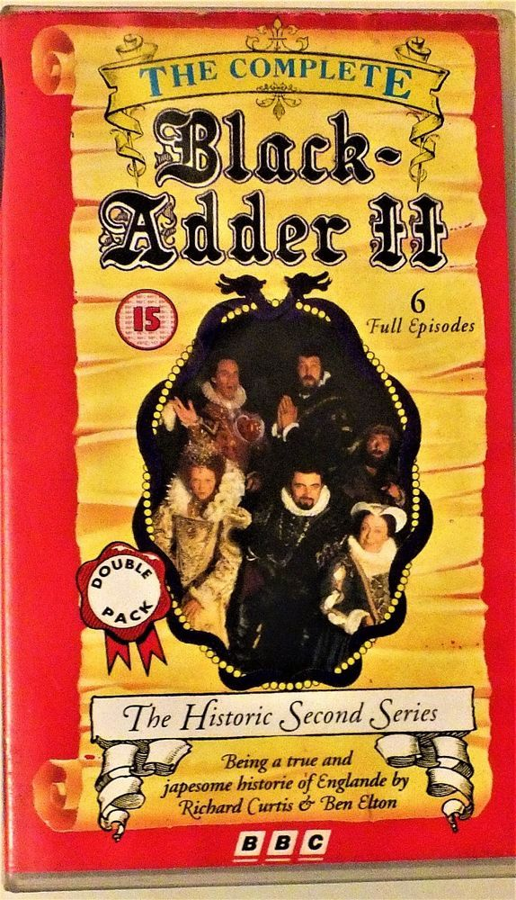 THE COMPLETE BLACK ADDER ll  VHS VIDEO - 6 Full Episodes - BBC
