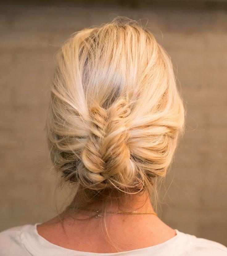 updo with fishtail braid   How To Fishtail Braid   Super Easy Fishtail Braid Tutorial