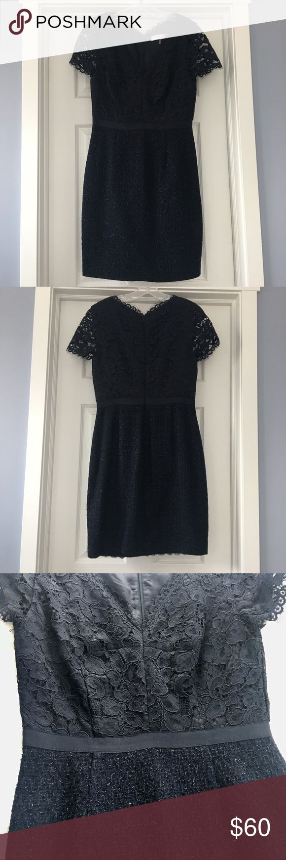 Trina Turk lace and Tweed Dress Trina Turk dress with lace top and tweed bottom. Very flattering! Trina Turk Dresses