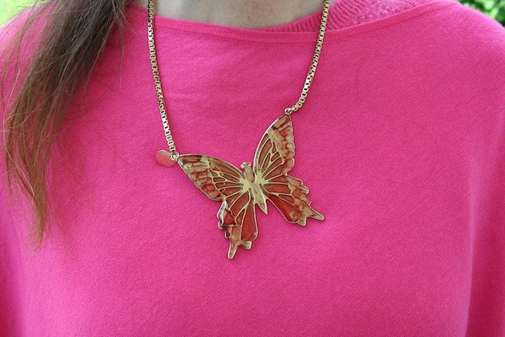 my #butterfly :) #jewels #jewel #necklace #colors #fashion #fuxia #summer @ipstyle