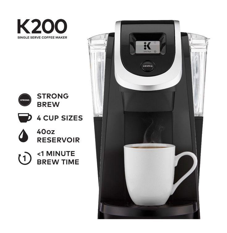 Keurig k200 single serve black kcup pod coffee maker new