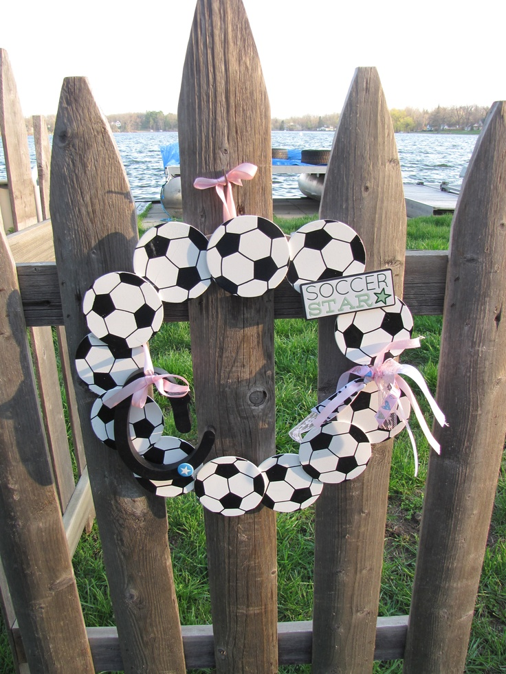 For the Soccer champ! Put it on the back of your chair or your bedroom door...show your support  www.facebook.com/wreathswithareason