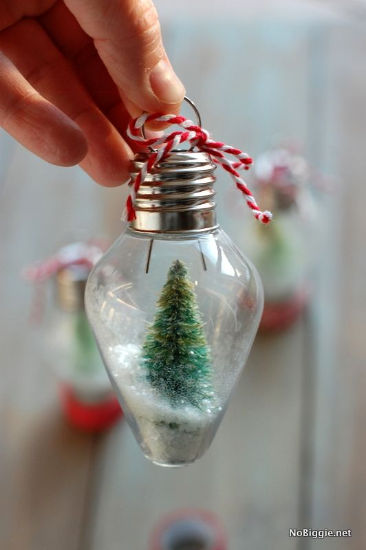 diy mini snow globe ornament this would be such a blast to do with kids - Christmas Decorations Pinterest