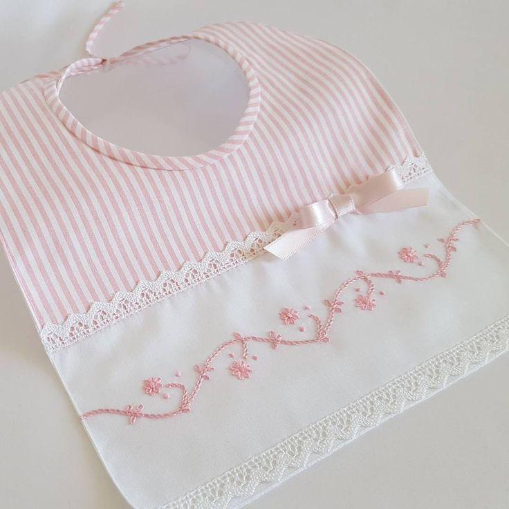 Babero rayas algodón