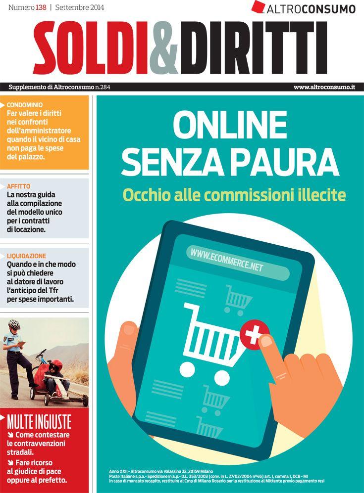 Soldi&Diritti n. 138, settembre 2014. shopping online, anticipo Tfr, ricorrere contro una multa, disservizi gas...