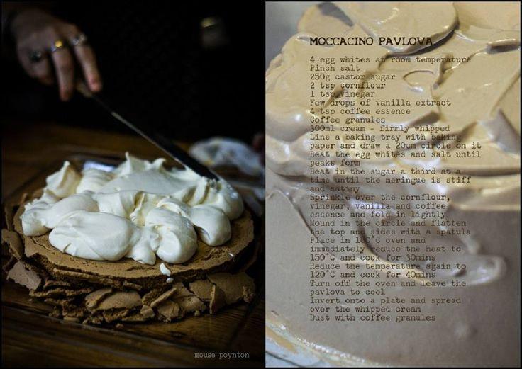 Moccacino Pavlova from Cleopatra Mountain Farmhouse #dessertrecipes, Midlands Meander, KZN, South Africa www.midlandsmeander.co.za