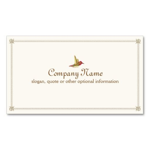 211 best poet business cards images on pinterest business cards hummingbird french inspired vintage business card reheart Gallery