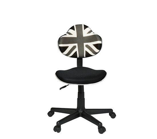 Chaises Et Fauteuils - Chaise dactylo UK Noir/gris/blanc