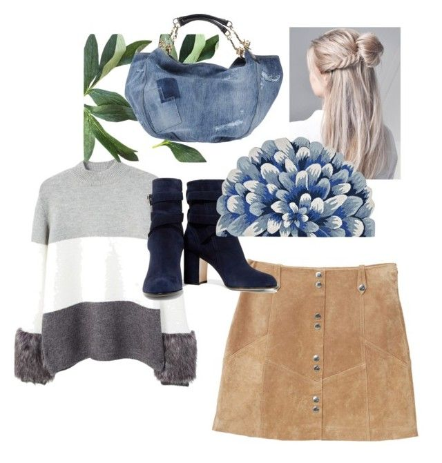"""""""Blooming in Autumn"""" by rhymingscapes on Polyvore featuring MANGO, Dsquared2 and Gianvito Rossi"""