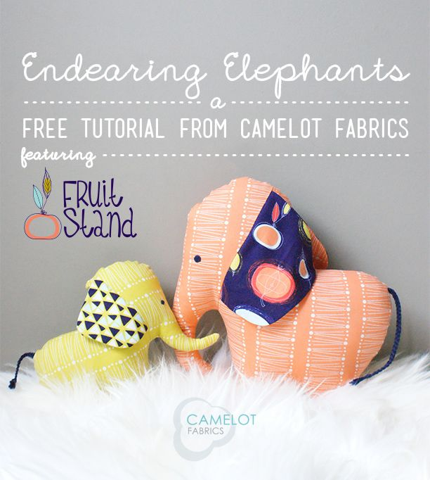 Make It: Elephant Cushions - Free Pattern & Tutorial #sewing