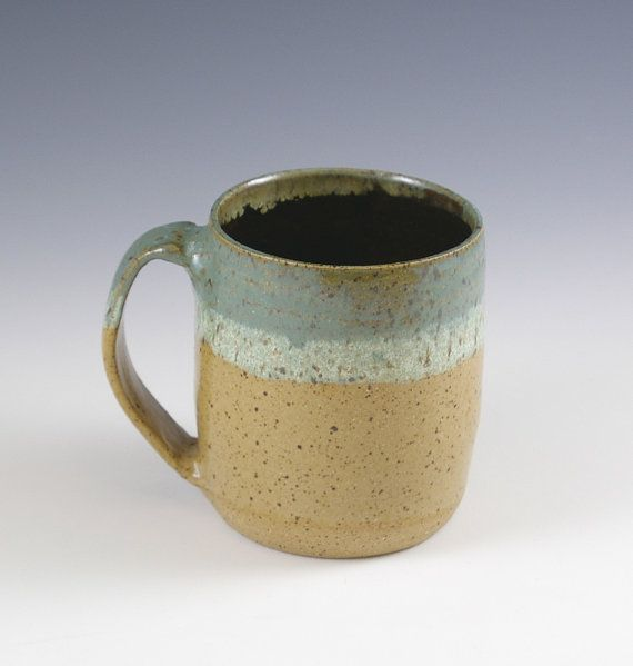 Handmade Pottery Coffee Mug Large Coffee Cup by fineartstoneware