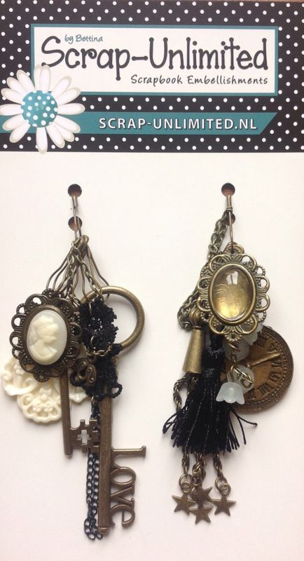 Bronzen/creme album hangers