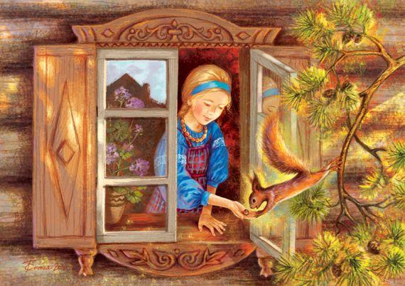 Сообщество иллюстраторов | Иллюстрация Таня Сытая / Tanya Sitaya - Белочка. Книжная графика. Растровая (цифровая) графика