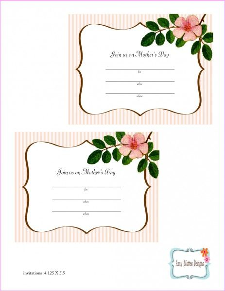 Free printables invitation for a Mother's Day party! See more party ideas at CatchMyParty.com!