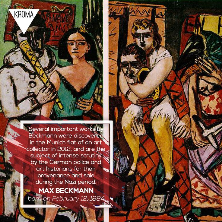 12/2 - Born Today: #MaxBeckmann  was a German painter, draftsman, printmaker, sculptor, and writer. #KROMA #Kromamagazine #KROMAborntoday #borntoday #painting  #drawing  #printmaking  #sculpture