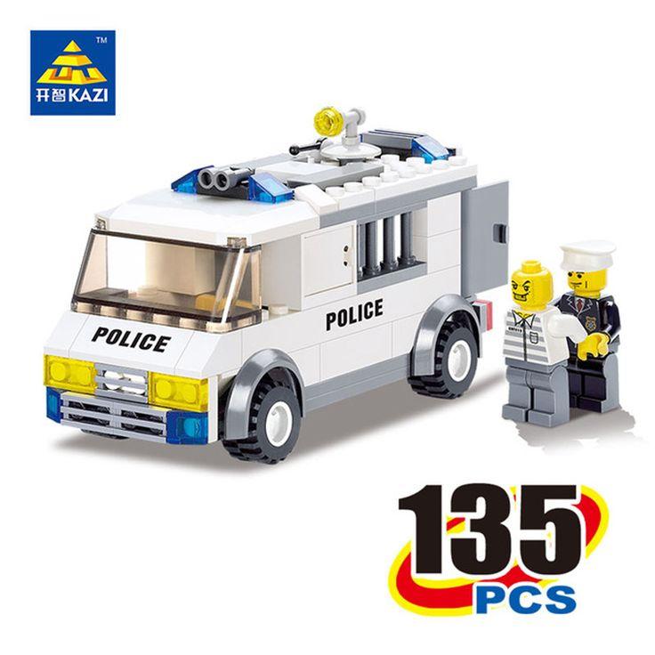 KAZI 6730  Police Truck Building Blocks Educational Building Bricks Squad Car Toys  DIY Block Brinquedos Kids Birthday Gift #Affiliate