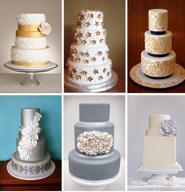 Gold Wedding Cake Decorations: 14 Best Images About Wedding Cakes On Pinterest