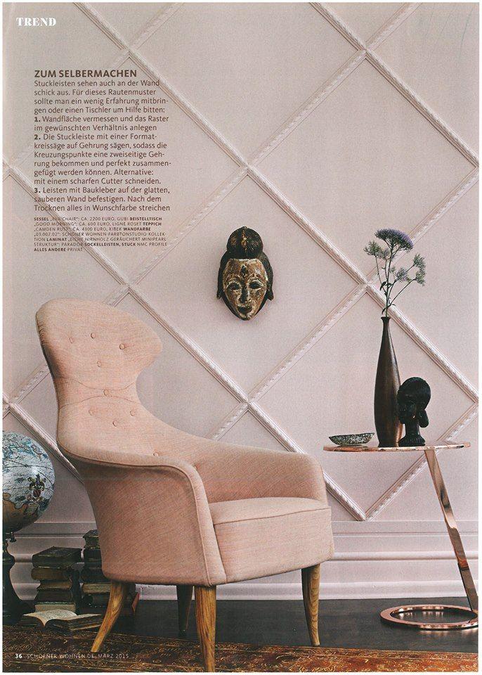 Our chair-rails in the Schöner Wohnen magazine  #nmcgroup #architecturedesign #interiordesign