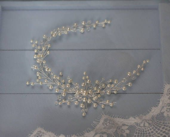 Bridal headpiece Wedding hair vine Bridal hair wreath Wedding hair piece Beaded headpiece Crystal headpiece Pearl hair vine Bridal hair halo ---------------------------------------------------------------------------------------------- Beautiful hair vine for your special day! Available