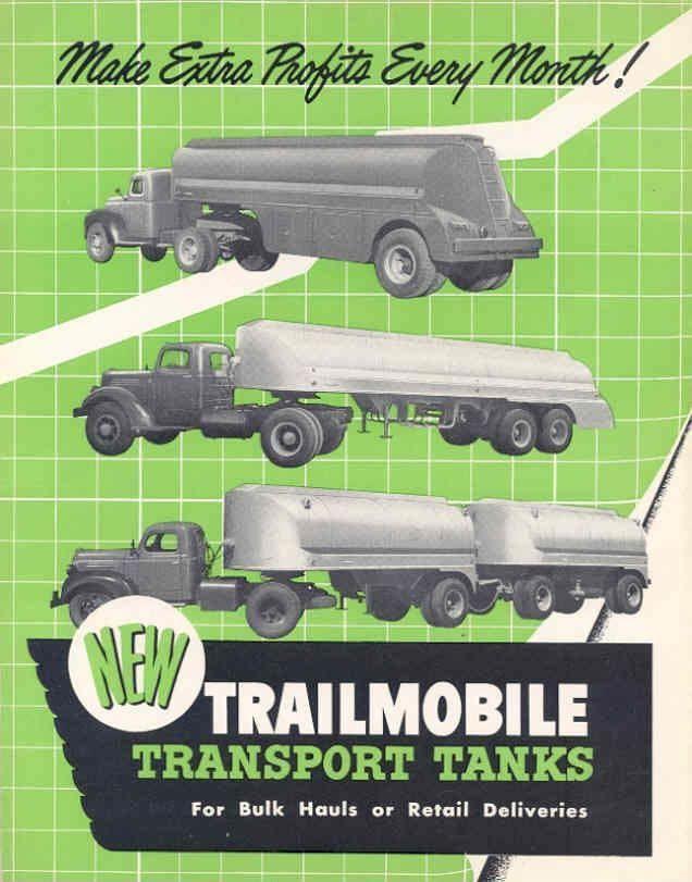 top 35 ideas about tanker trucks trucks texaco and 1950 trailmobile truck gas oil tank trailer brochure wh2190 qlixlv