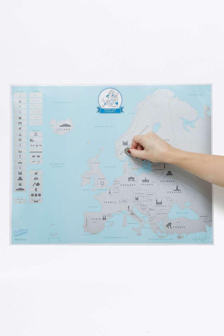 "Weltkarte zum Freirubbeln ""Europe Edition"""
