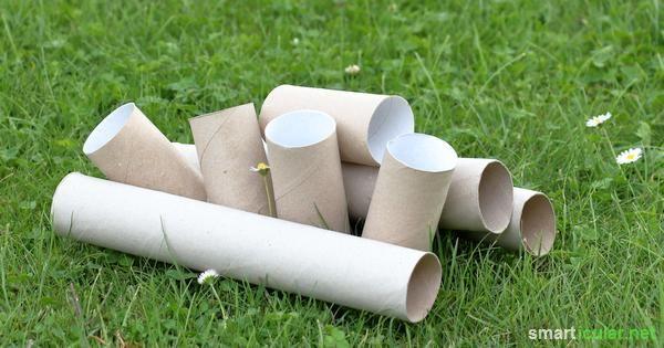 Hebst du die Papp-Rollen von Toilettenpapier auch auf, in der Hoffnung mal was damit anzustellen? Hier findest du ein paar tolle Ideen wie du sie verwendest