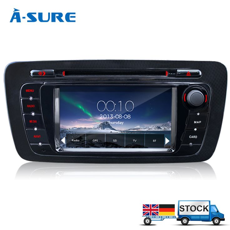 A-Sure DVD GPS Player Bluetooth Car Sat Nav Stereo Radio Navigation 2 Din GPS Head Unit For SEAT IBIZA 2009-2013