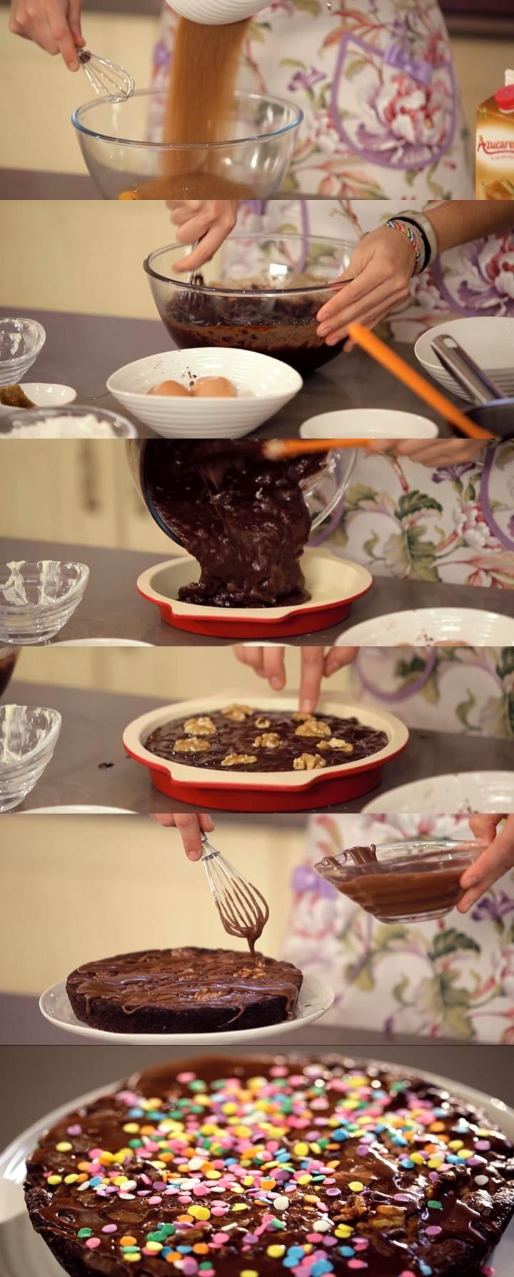 Programa 8 de Cupcake Maniacs: Brownie con glaseado de chocolate