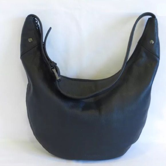 Stone Mountain hobo bag This is a pre-owned, very cute black leather hobo purse…