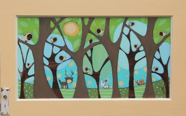 Bought a print of this painting by Deona Fish today at Artsplosure.  Loved her work!