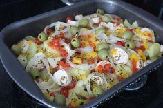 Receita: Filé de Merluza com batatas ao forno